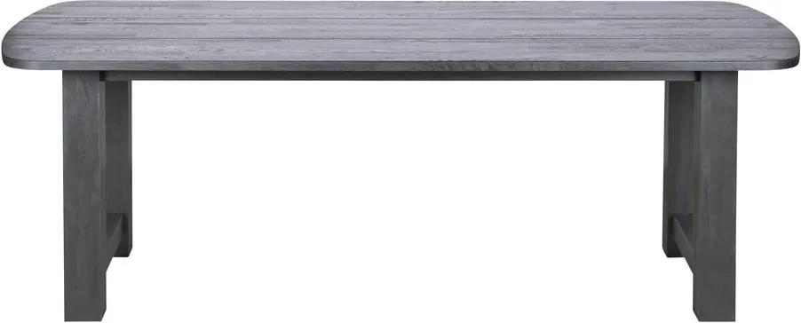 Čierny jedálenský stôl z dubového dreva De Eekhoorn Identity, 220 × 90 cm