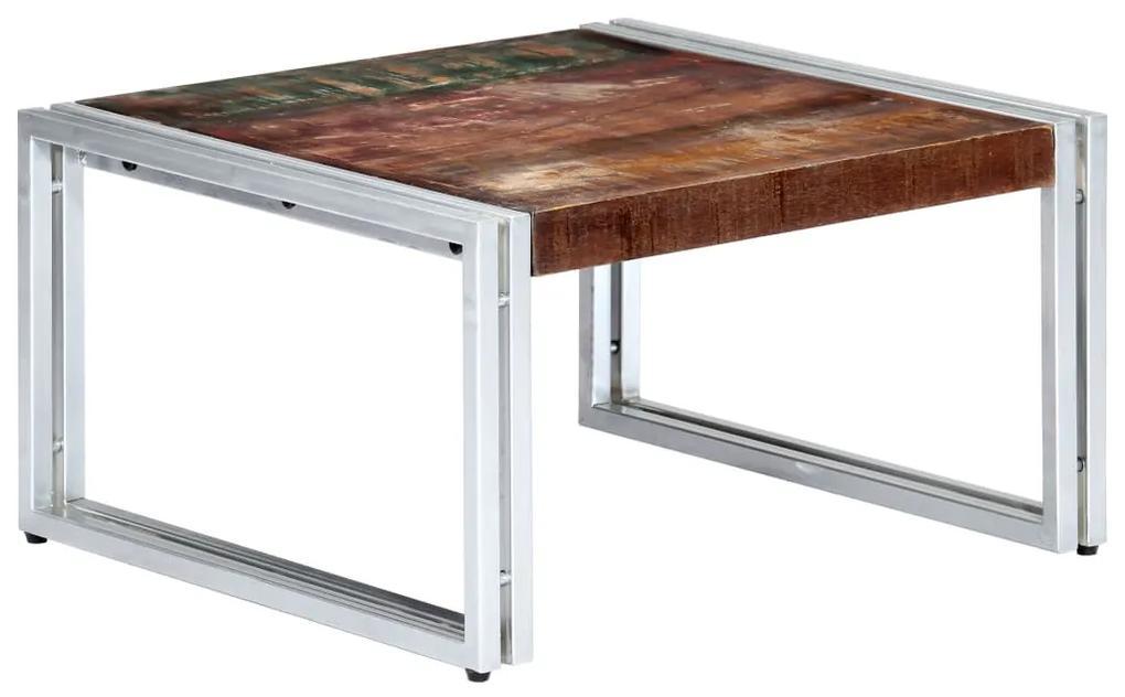 vidaXL Konferenčný stolík 60x60x35 cm masívne recyklované drevo