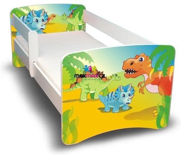 MAXMAX Detská posteľ 180x80 cm bez šuplíku - DINO II 180x80 pre chlapca NIE