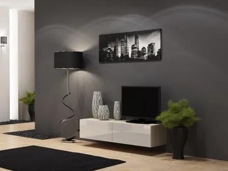 CAMA MEBLE Vigo 140 tv stolík na stenu dub sonoma / biely lesk