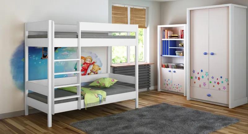 LU Diego Pred poschodová posteľ 200x90 - viac farieb Farba: Biela