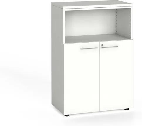 Kancelárska skriňa kombinovaná, 1087 x 800 x 420 mm, biela