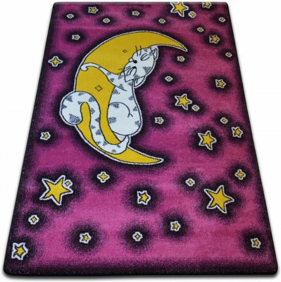 Detský kusový koberec Nočná obloha ružový, Velikosti 240x330cm