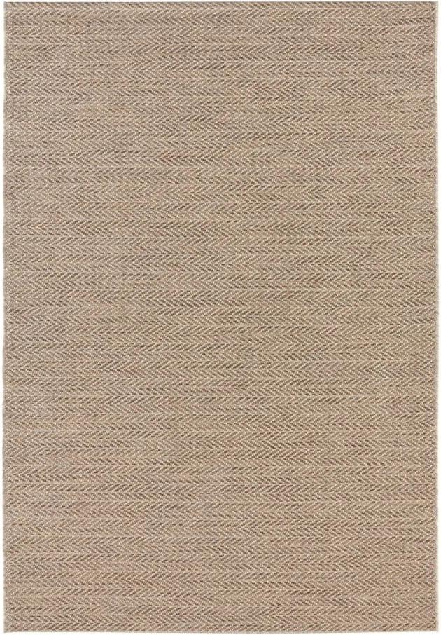 Hnedý koberec vhodný aj do e×teriéru Elle Decor Brave Caen, 200 × 290 cm