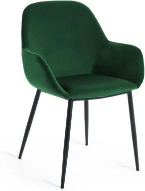KOPA BLACK ZAMAT stolička Zelená