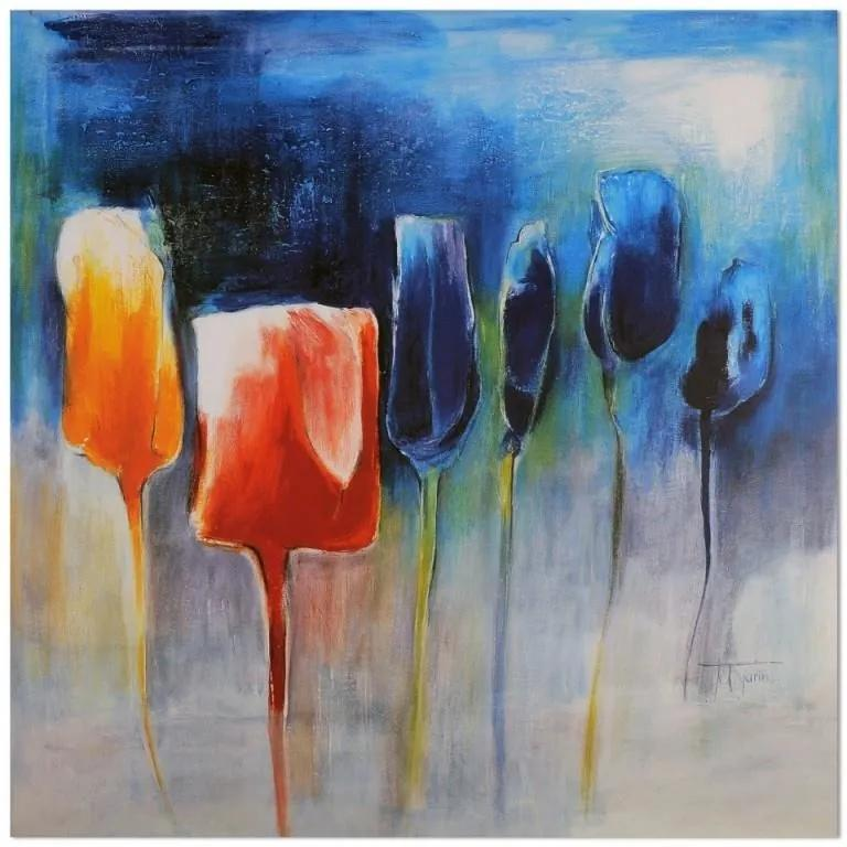 Obraz CARO - Colorful Tulips 30x30 cm