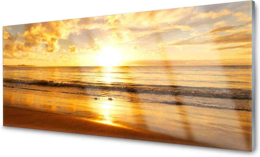 Obraz na skle More Slnko Krajina