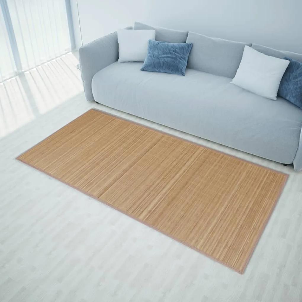 vidaXL Hnedý obdĺžnikový bambusový koberček 120 x 180 cm