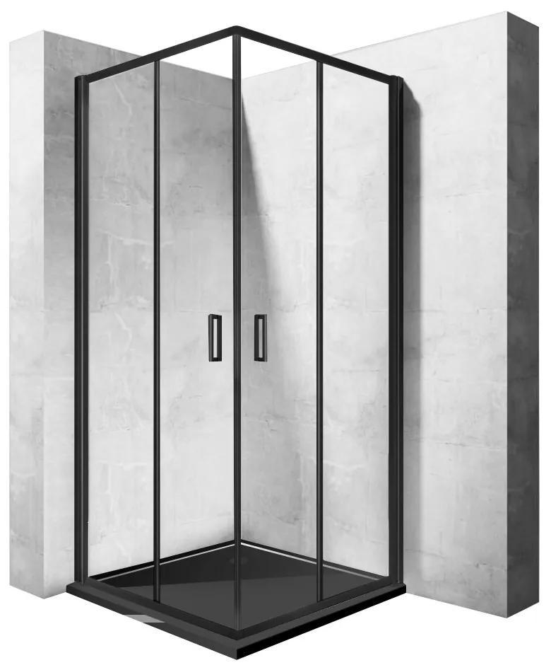 Sprchový kout Rea Punto 80x80 černý