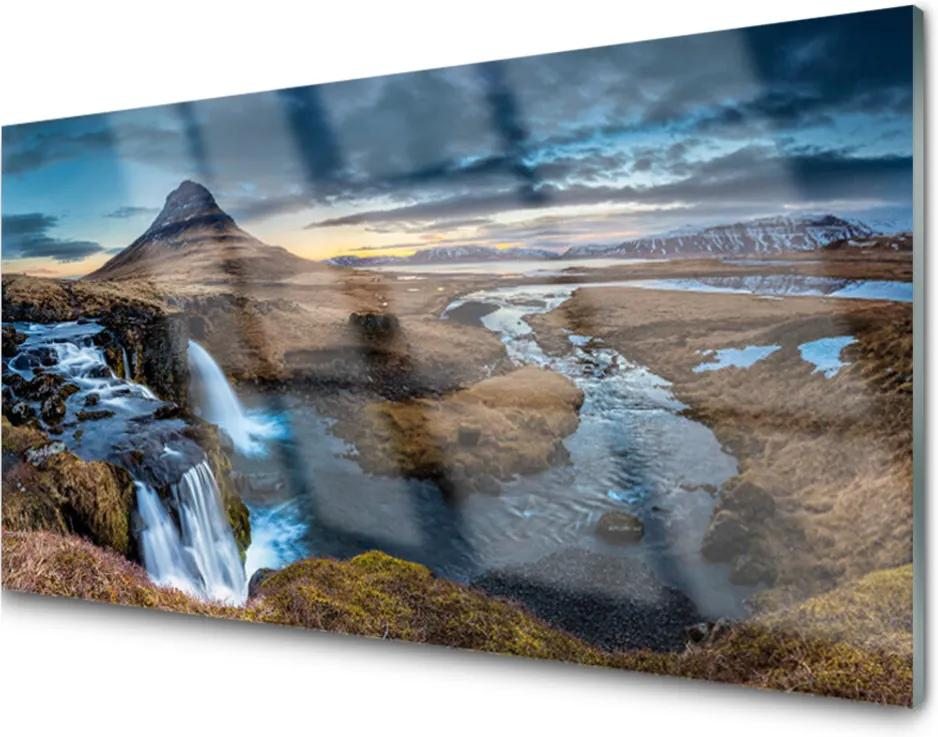 Sklenený obklad Do kuchyne Vodopád Rieka Príroda