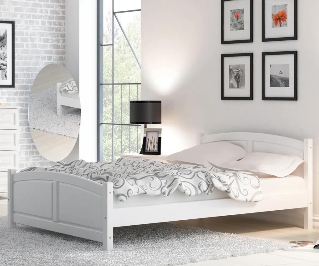 AMI nábytok Posteľ borovica Mela 90x200 biela