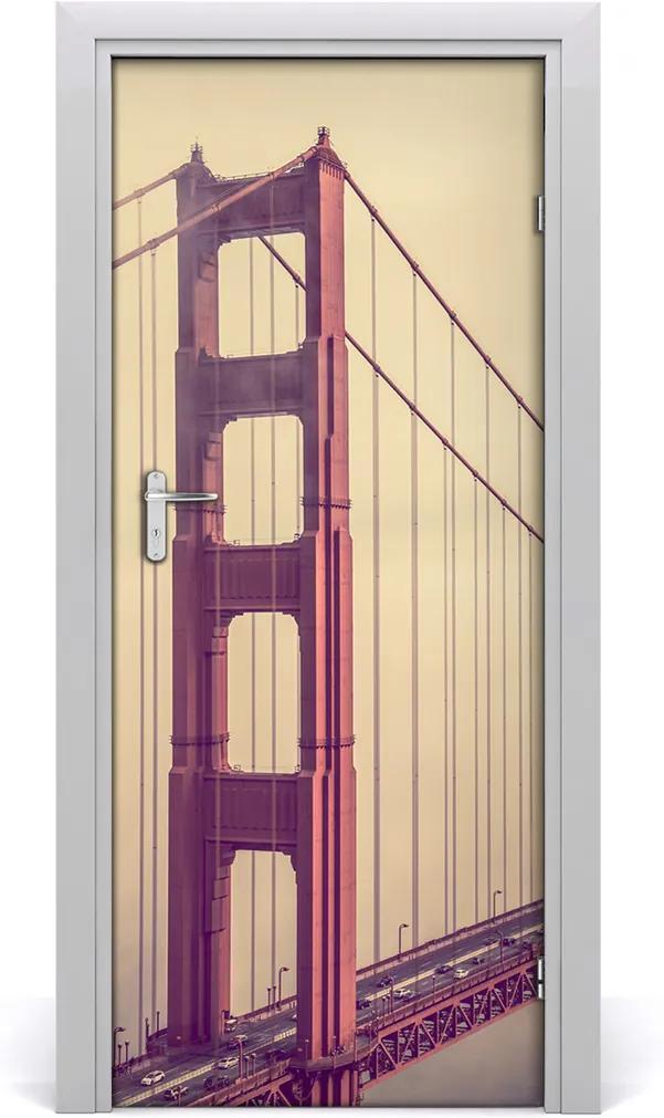 Fototapeta samolepící dveře Most san francisco