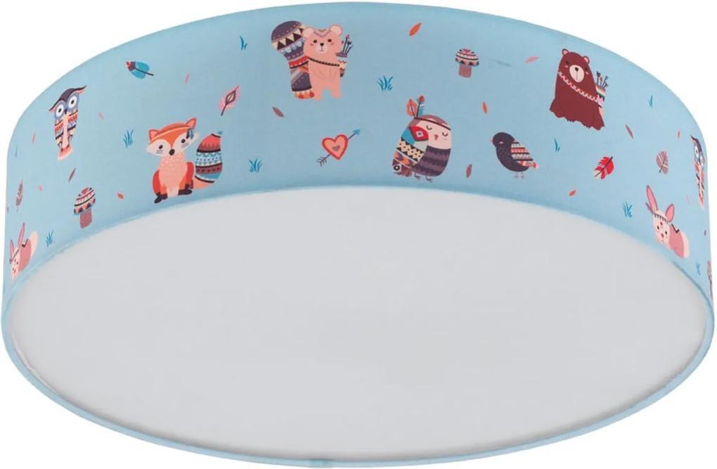 Detské svietidlo EGLO RUFFO biela / modrá 97575