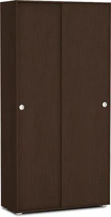 DREVONA09 Skriňa 2-dverová policová s posuvnými dverami wenge REA LARY S4/200