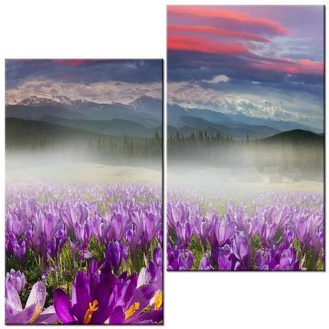 Tlačený obraz Nádherná panoráma krajiny 60x60cm 2027A_2J