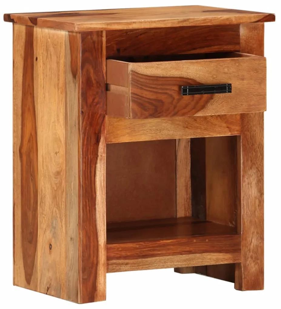 vidaXL Nočný stolík 40x30x50 cm masívne sheeshamové drevo