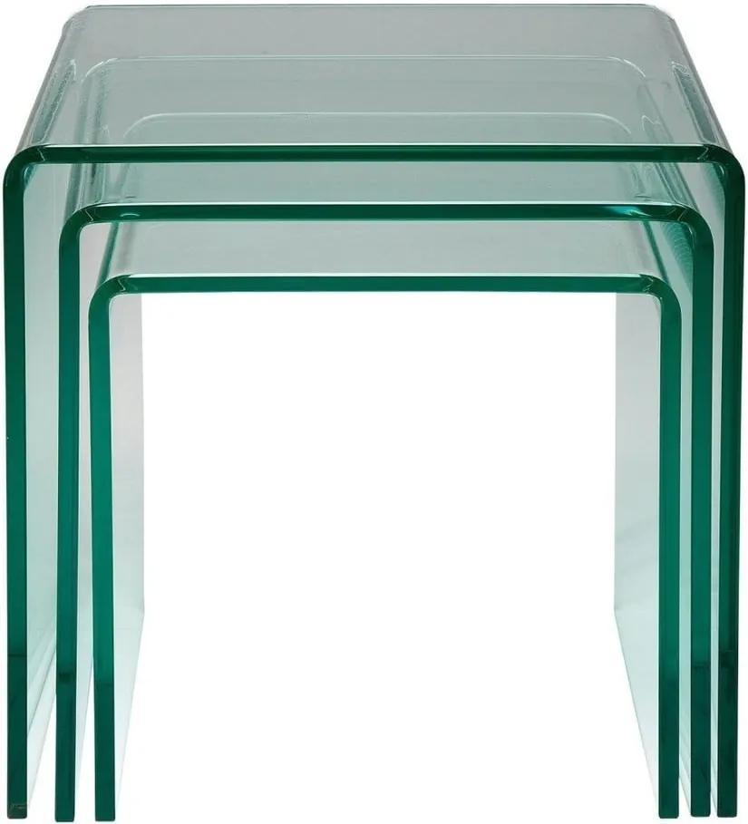 Sada 3 odkladacích stolíkov Kare Design Clear Club