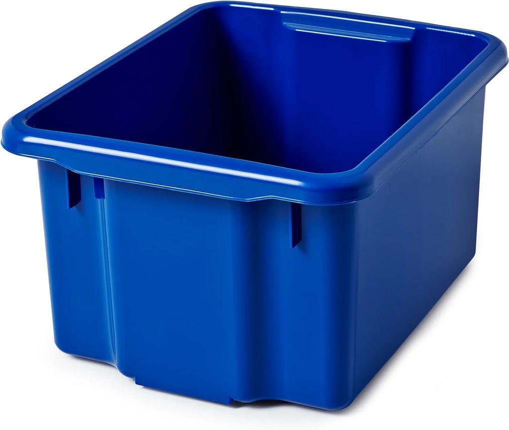 Úložný box, Š 365 x D 500 x V 260 mm, 33 L, modrý