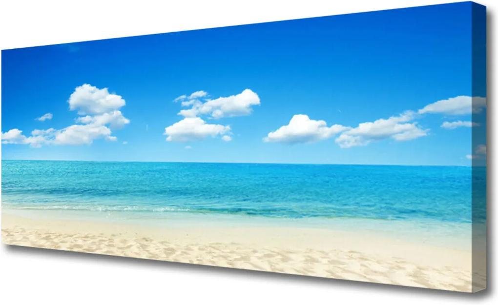 Obraz Canvas Moře modré nebe