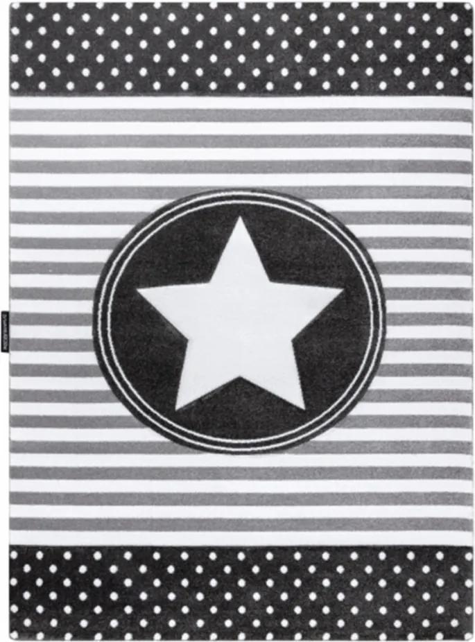 Detský kusový koberec Hviezda sivý, Velikosti 180x270cm
