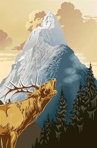 Fototapety, rozmer 115 x 175 cm, King of the Mountain, W+G 633
