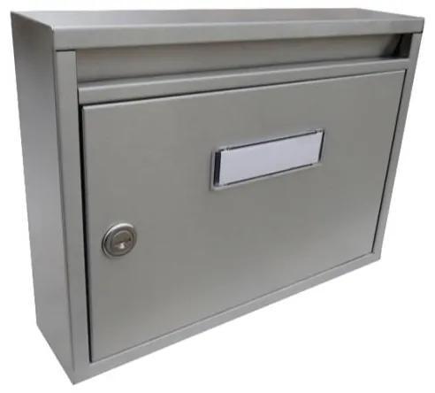 Nerezová poštová schránka E-01 - Imola s hĺbkou 60 mm, pre formát zásielok do A4