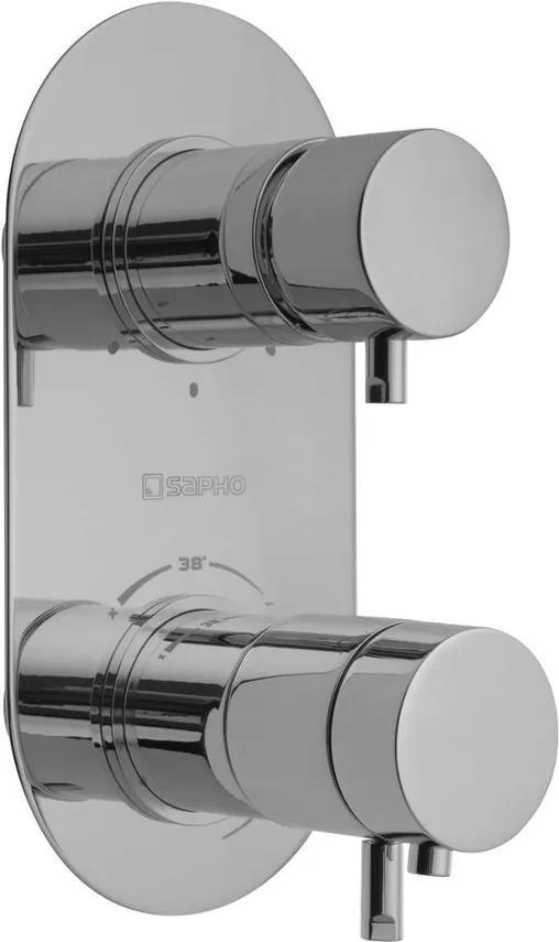 SAPHO - RHAPSODY podomítková sprchová termostatická baterie, 3 výstupy, chrom (5592T)