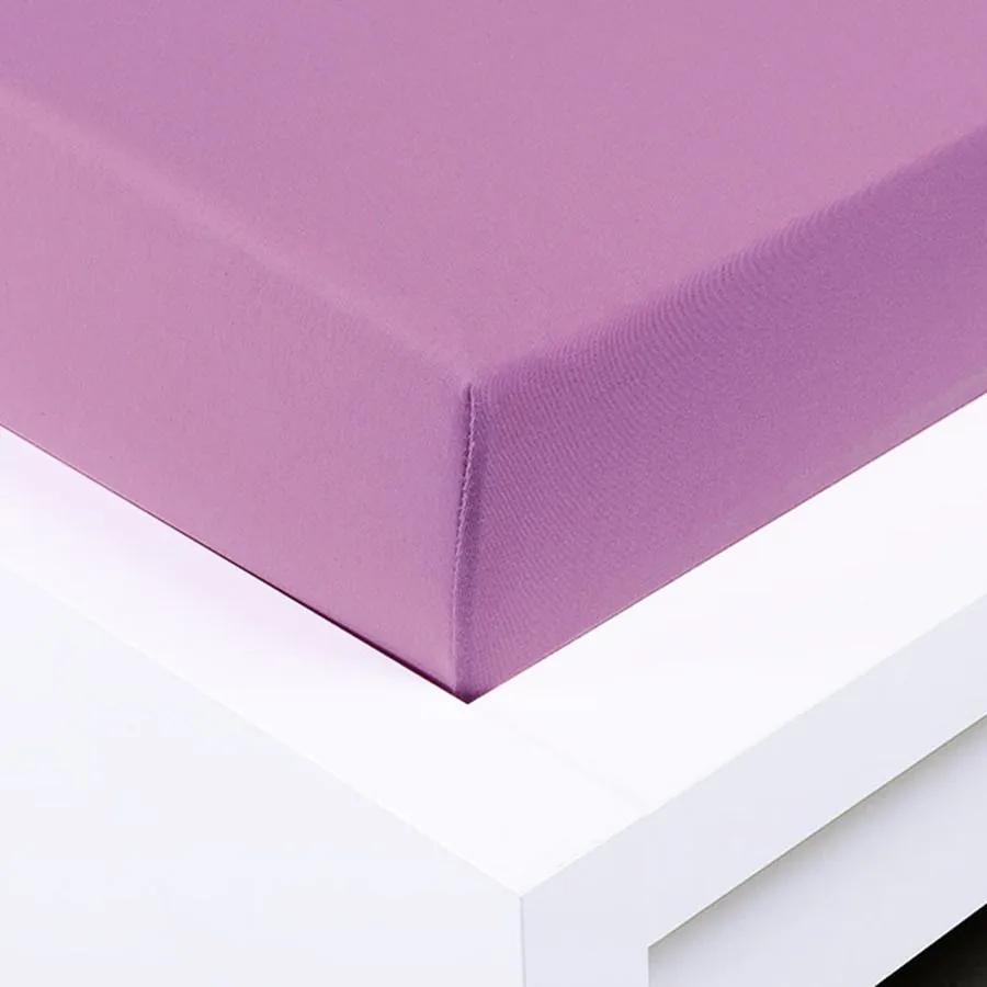 XPOSE ® Jersey prostěradlo Exclusive dvoulůžko - šeříková 180x200