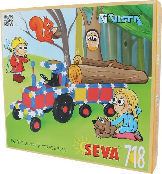 SEVA Stavebnica plast 718ks