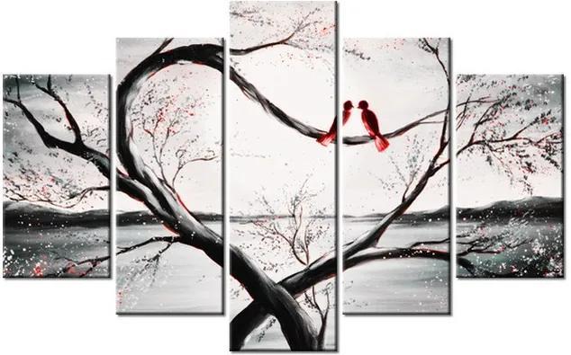 Tlačený obraz Vtáčia láska 100x63cm 2527A_5D