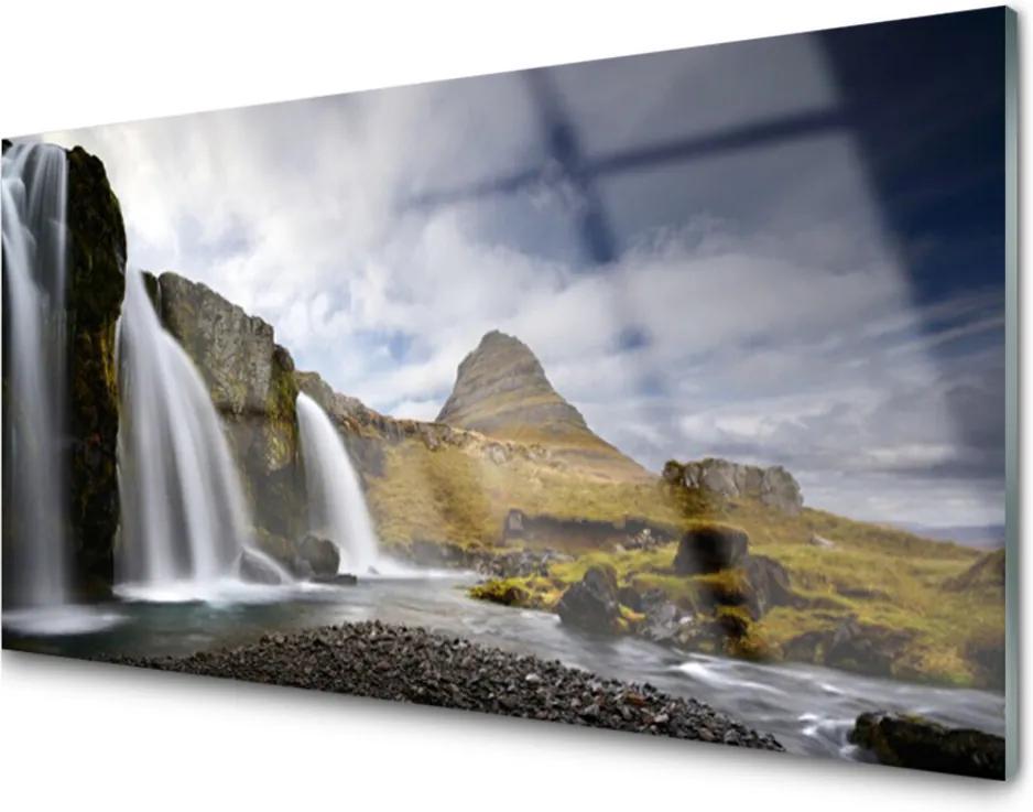 Plexisklo obraz Vodopád hory krajina
