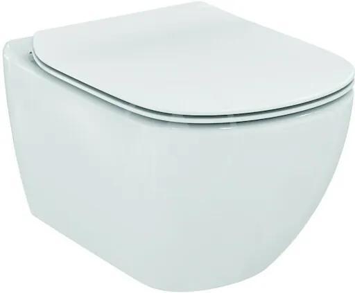 Ideal Standard Tesi - Závesné WC so sedadlom SoftClose, AquaBlade, biela T354601