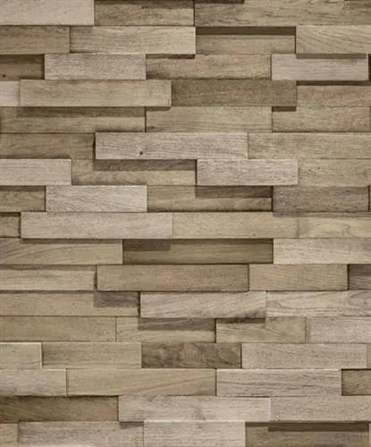 Vliesové tapety, drevený obklad hnedý, Facade FC2103, GRANDECO, rozmer 10,05 m x 0,53 m