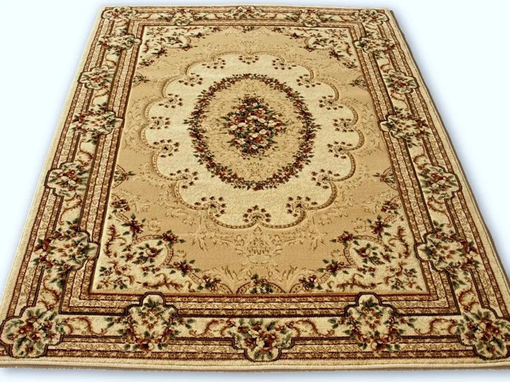 Kusový koberec klasický vzor béžový, Velikosti 200x300cm