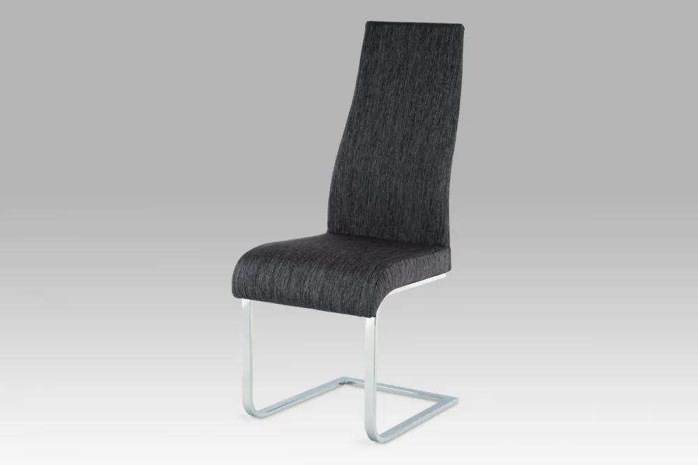 Jídelní židle chrom / látka černá AC-1817 BK2 Autronic