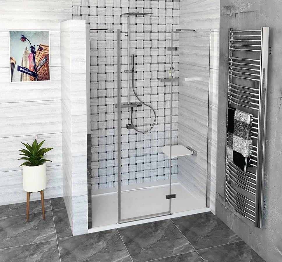 POLYSAN - FORTIS LINE sprchové dvere do niky 1500 mm, číre sklo, pravé (FL1515R)