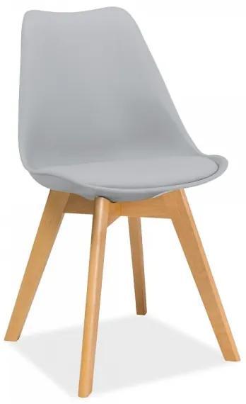 Jedálenská stolička Kris svetlosivá