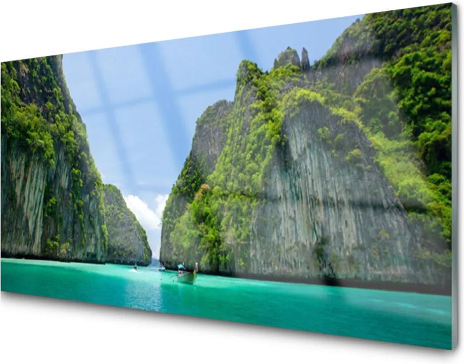 Plexisklo obraz Hora voda záliv krajina