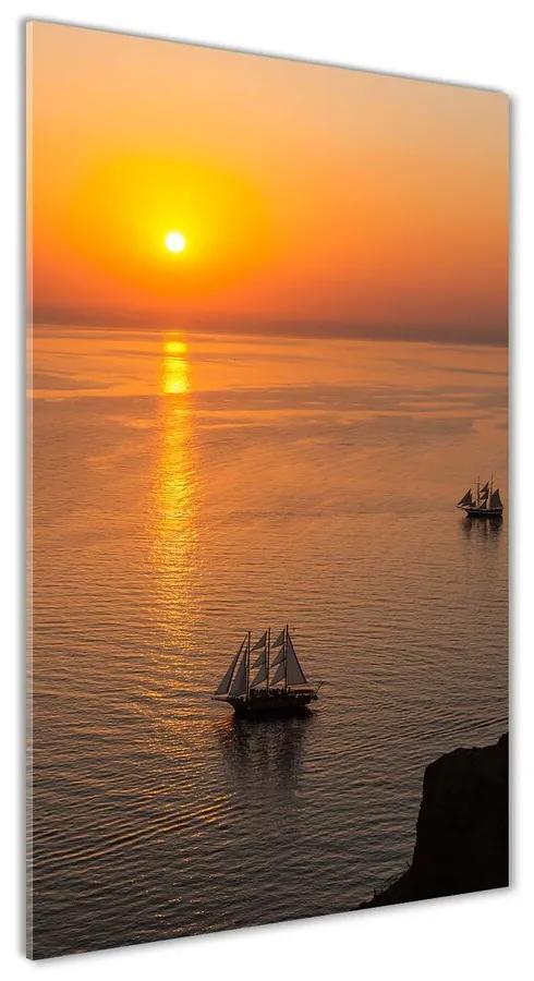 Foto obraz akrylový Západ slnka mora pl-oa-70x140-f-81121847