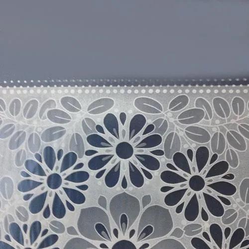 Obrus PVC transparentný kvety metráž, šírka 140 cm, IMPOL TRADE