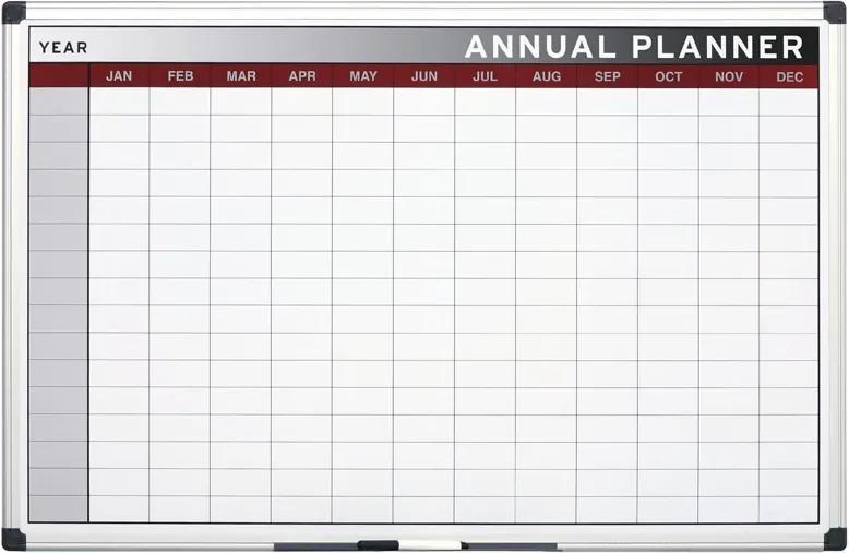 Bi-Office Ročná plánovacia tabuľa, mesiace, 900x600 mm