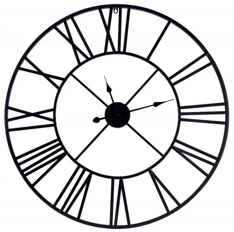 TZB Nástenné hodiny ITALY 80 cm čierne