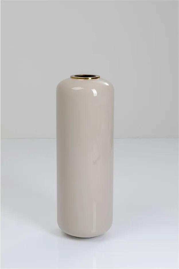 Svetlosivá váza s detailmi v zlatej farbe Kare Design Charme
