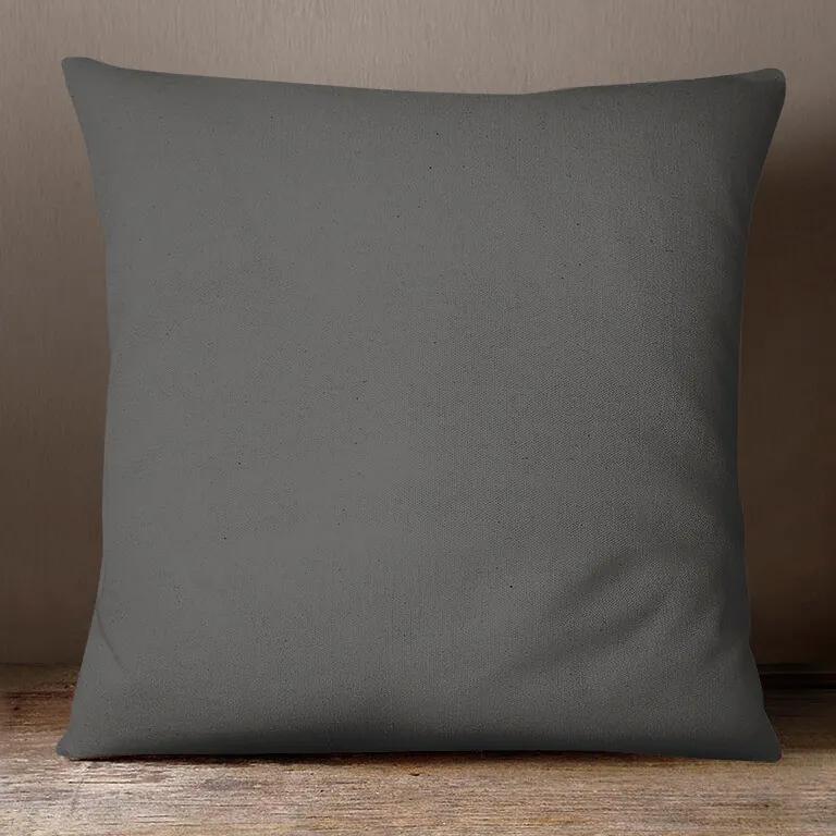 Goldea bavlnená obliečka na vankúš - tmavo sivá 45 x 45 cm