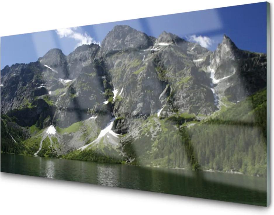 Plexisklo obraz Hory jezero les krajina
