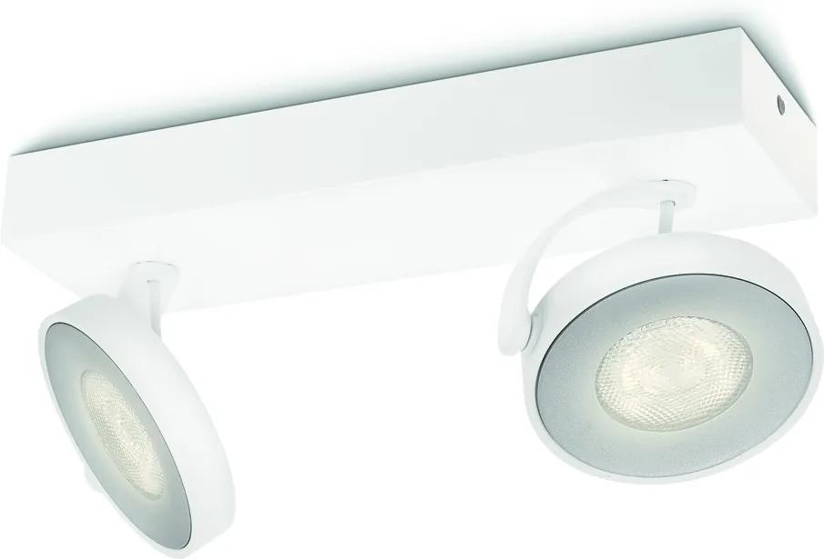 LED stropné svietidlo bodové Philips CLOCKWORK 2x4,5W