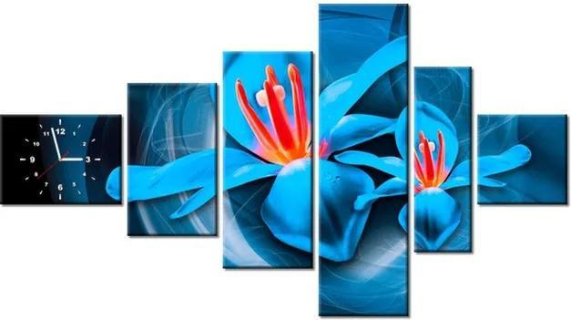 Tlačený obraz s hodinami Vesmírne kvety – Jakub Banas 180x100cm ZP3575A_6E