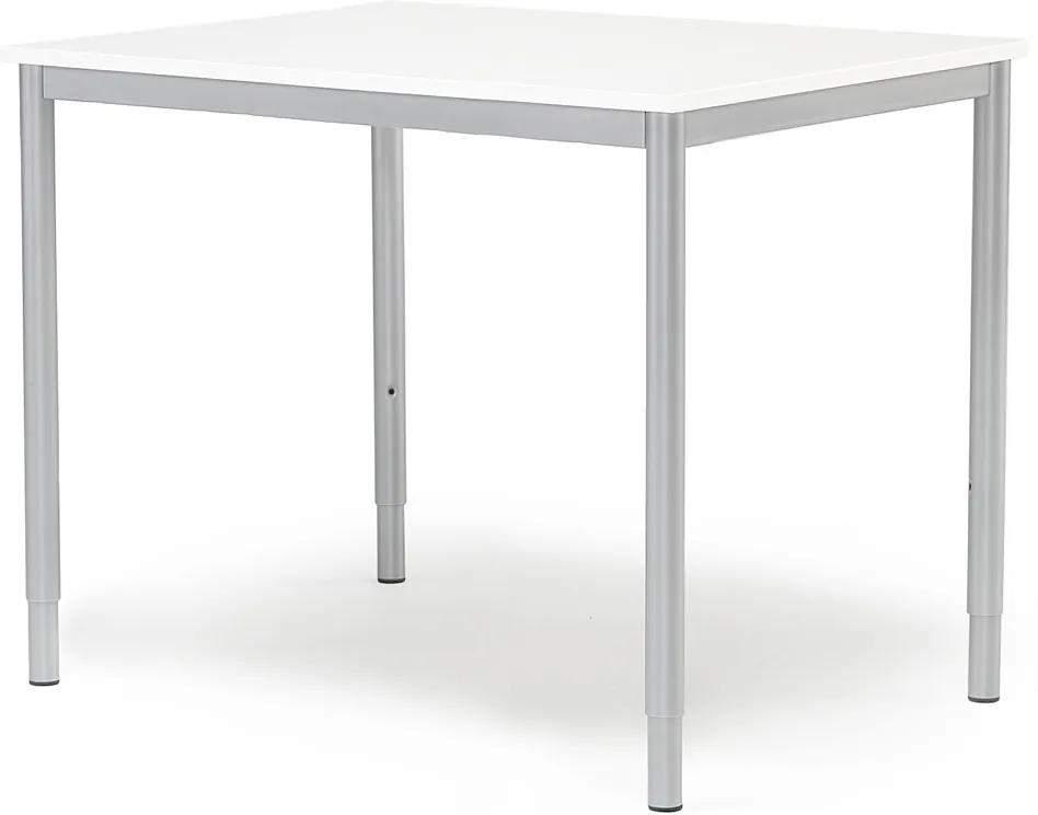 Prídavný kancelársky pracovný stôl Adeptus 800x600 mm, biela/šedá