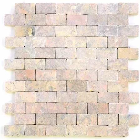 Mramorová mozaika Garth - červená – obklady 1 m2
