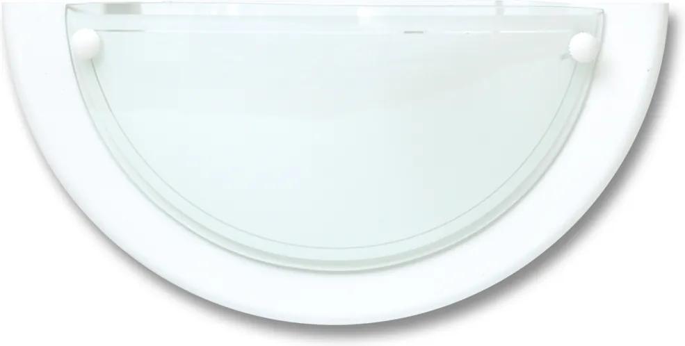 Ecolite W11-BI lampa polkruh biely 30 cm